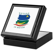 French Guiana Flag 2 Keepsake Box