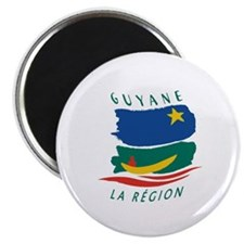 """French Guiana Flag 2 2.25"""" Magnet (100 pack)"""