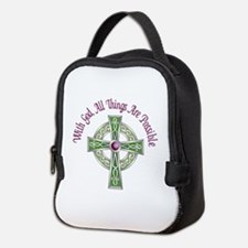 ALL THINGS POSSIBLE Neoprene Lunch Bag