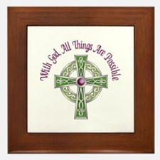 ALL THINGS POSSIBLE Framed Tile