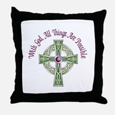 ALL THINGS POSSIBLE Throw Pillow