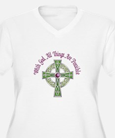 ALL THINGS POSSIBLE Plus Size T-Shirt