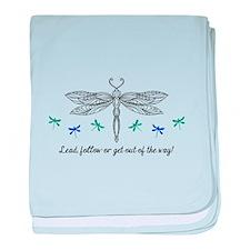 LEAD OR FOLLOW baby blanket