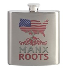 Manx American Roots Flask