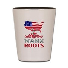 Manx American Roots Shot Glass