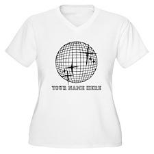 Custom Disco Ball Plus Size T-Shirt