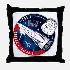 SpX 5 Logo Throw Pillow