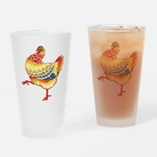 Vintage Chicken Drinking Glass
