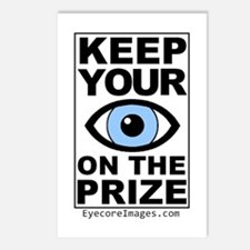 KEEP YOUR EYE ON THE PRIZE Postcards (Package of 8