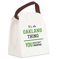 Unique Oakland Canvas Lunch Bag