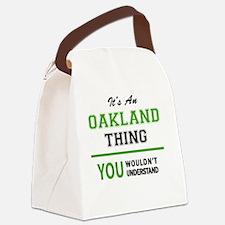 Cute Oakland Canvas Lunch Bag