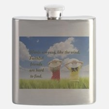 Faithful Friends Are Hard To Find Flask