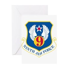 9th U S Air Force.psd Greeting Cards