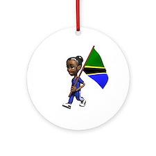 Tanzania Girl Ornament (Round)