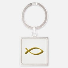 CHRISTIAN FISH FULL FRONT Keychains