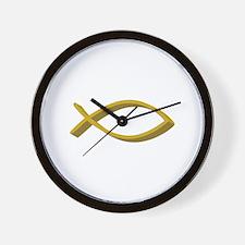 CHRISTIAN FISH FULL FRONT Wall Clock