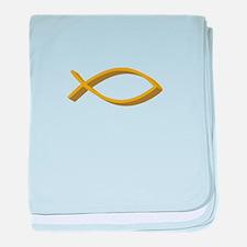 CHRISTIAN FISH FULL FRONT baby blanket