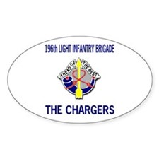 196th CHARGERS Oval Decal