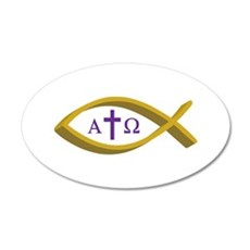 ALPHA AND OMEGA Wall Decal