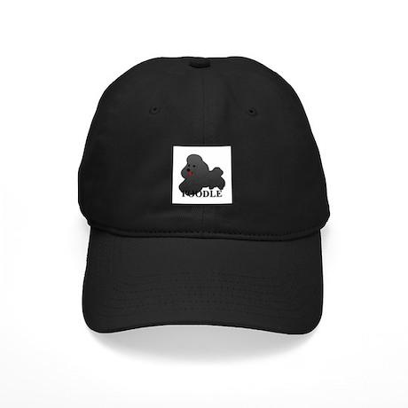 Cartoon Poodle Black Cap
