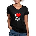 I Love Omar Khayyam Women's V-Neck Dark T-Shirt