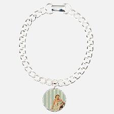 novelty retro pin up gir Bracelet