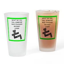 dominoes joke Drinking Glass