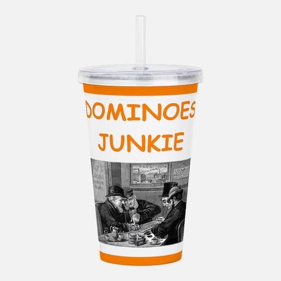 dominoes joke Acrylic Double-wall Tumbler