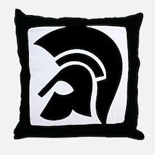 warrior helmet Throw Pillow