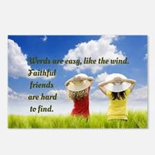 Faithful Friends Are Hard Postcards (Package of 8)