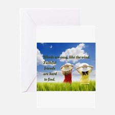 Faithful Friends Are Hard To Find Greeting Cards