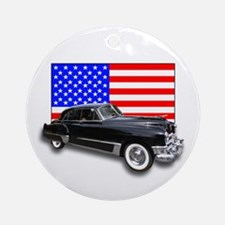 Vintage Cadillac Ornament (Round)