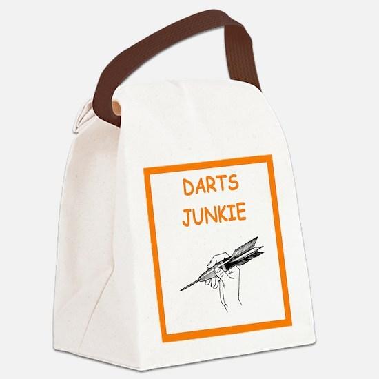 a funny darts joke Canvas Lunch Bag