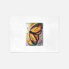 Orange Butterfly! Nature art! 5'x7'Area Rug