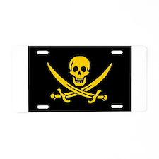 pirate-guld Aluminum License Plate