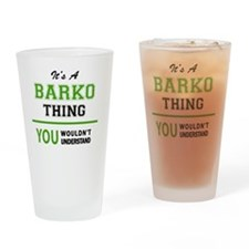 Cute Barko Drinking Glass