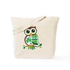 St Patrick's Day Owl Tote Bag