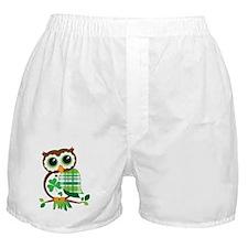St Patrick's Day Owl Boxer Shorts