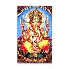 Ganesh / Ganesha Indian Eleph Rectangle Car Magnet