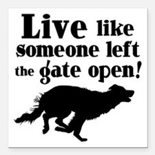 "OPEN GATE Square Car Magnet 3"" x 3"""