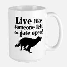 OPEN GATE Large Mug