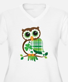St Patrick's Day Owl Plus Size T-Shirt