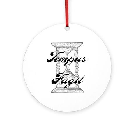 """""""Tempus Fugit"""" Ornament (Round)"""