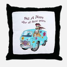 STILL A HIPPY Throw Pillow