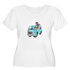 HIPPY VAN Plus Size T-Shirt