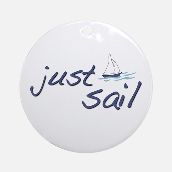Just Sail Ornament (Round)