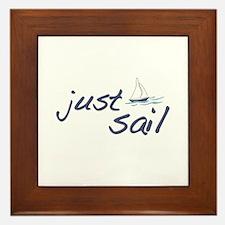 Just Sail Framed Tile
