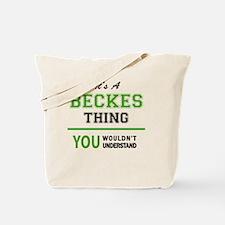 Unique Becks Tote Bag