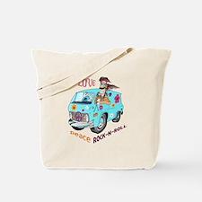 PEACE LOVE ROCK N ROLL Tote Bag