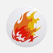 BALL OF FLAMES Ornament (Round)